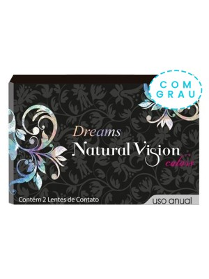 Lente de Contato Colorida Natural Vision Colors Dreams Anual unidade - COM GRAU