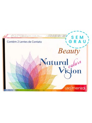 Lente de Contato Colorida Natural Vision Colors Beauty Mensal Cx2 - SEM GRAU