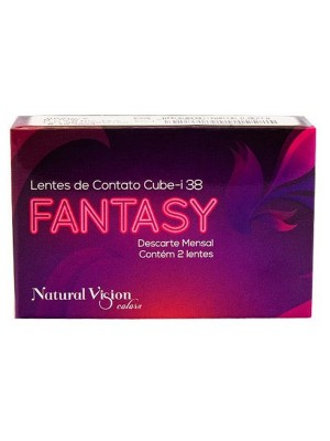 Lente de Contato Colorida Natural Vision Fantasy Mensal Cx2