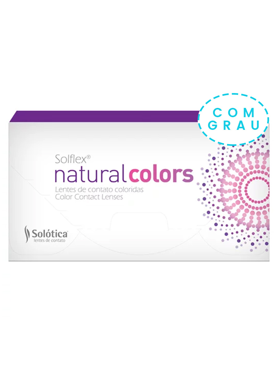 Lente de Contato Colorida Solflex Natural Colors Mensal - COM GRAU