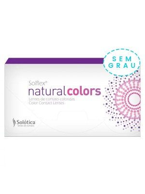 Lente de Contato Colorida Solflex Natural Colors Mensal - SEM GRAU